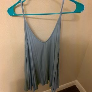 Tops - Blue loose fitting tank top